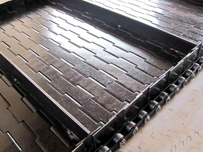 Plate Link Conveyor Belts Self Supporting Over Widths